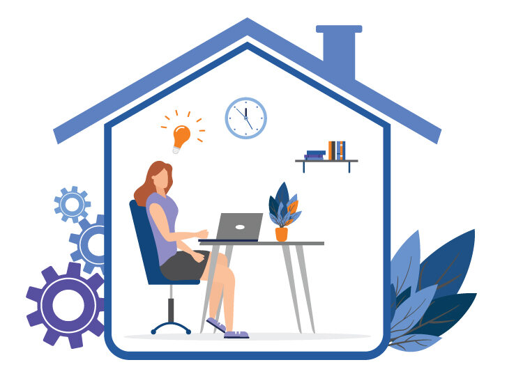 the future of workforce is working from home with a successful business management system